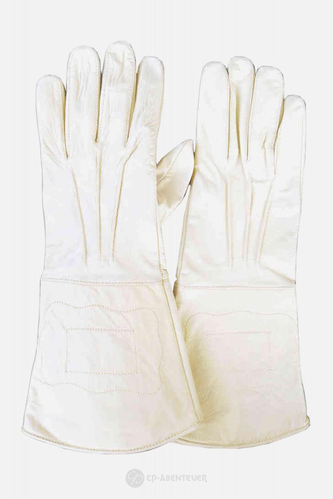 Handschuh - Leder, weiß